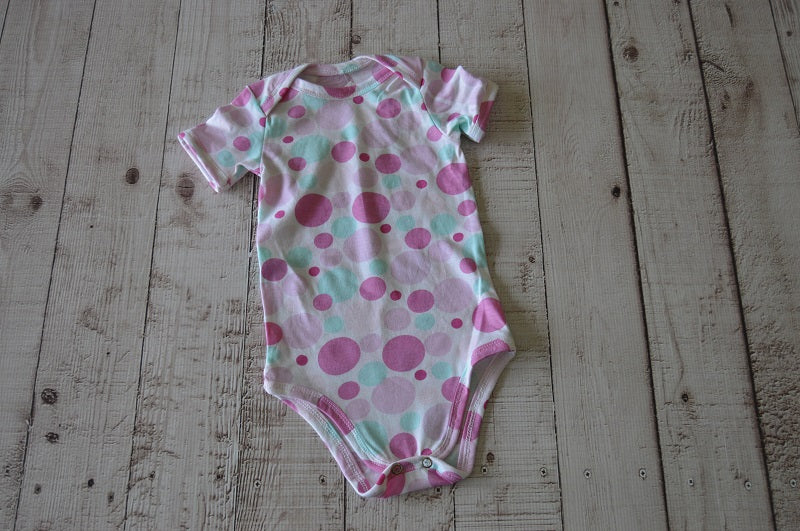 Pink Dots Baby Grow - But Why Not