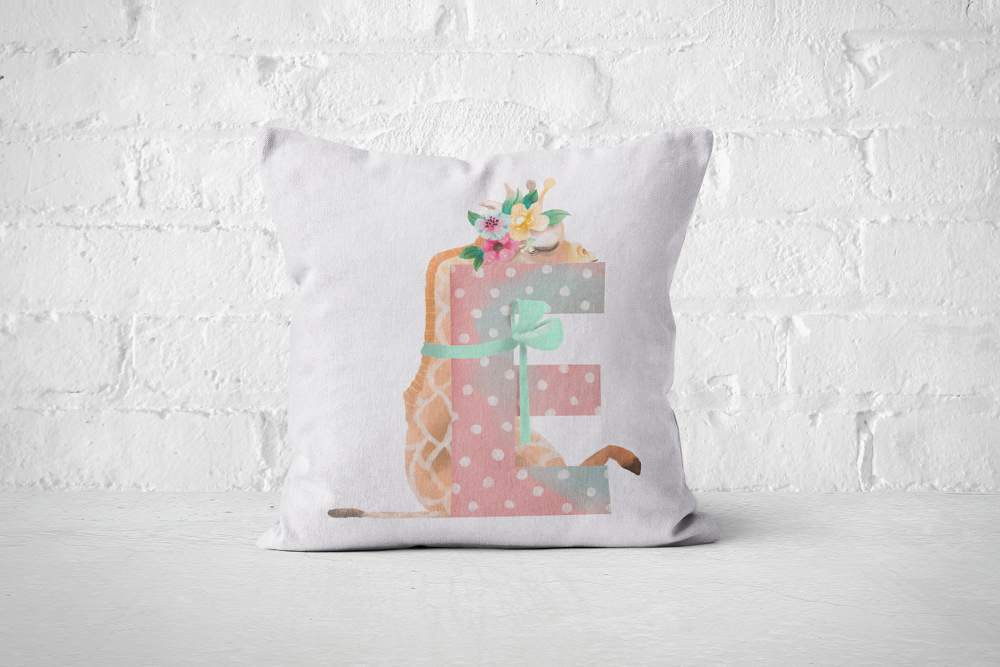 Pretty Letters Pillow Cover - E - But Why Not