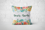 Pretty Letters Pillow Cover - Floral 1 - But Why Not