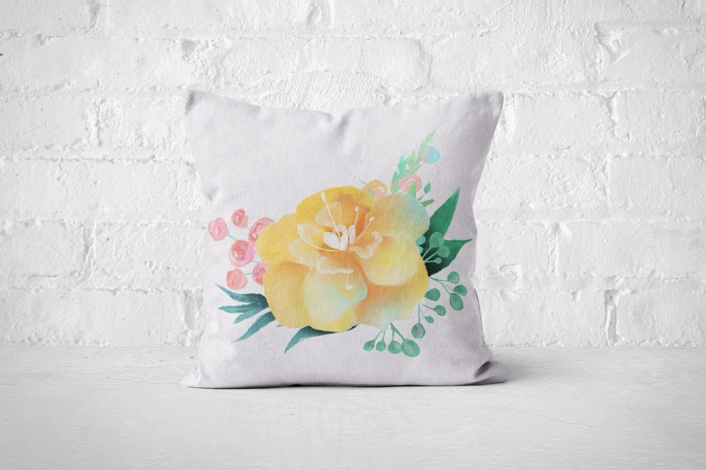 Pretty Letters Pillow Cover - Floral 2 - But Why Not