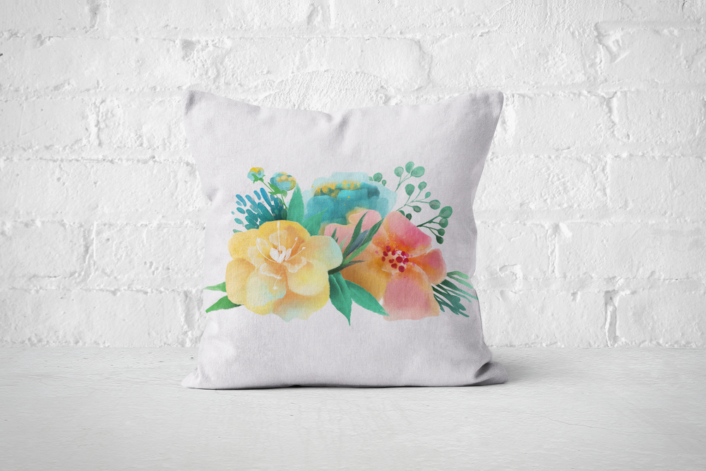 Pretty Letters Pillow Cover - Floral 3 - But Why Not