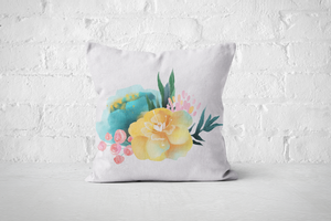 Pretty Letters Pillow Cover - Floral 4 - But Why Not