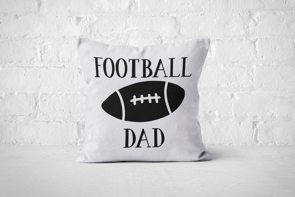 Football Dad | Pillow Square - But Why Not