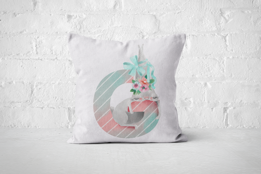 Pretty Letters Pillow Cover - G - But Why Not