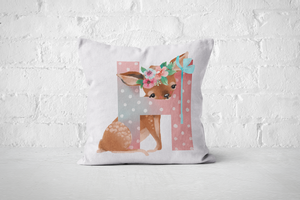 Pretty Letters Pillow Cover - H - But Why Not
