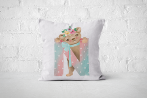Pretty Letters Pillow Cover - N - But Why Not