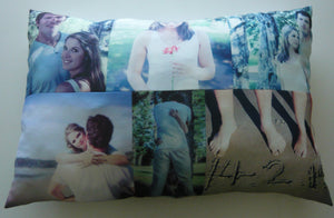 Longer Pillow with 6 Photos