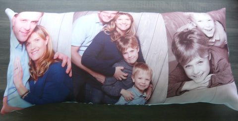 Longer Pillow with 3 Photos