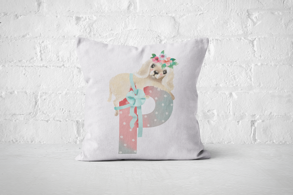 Pretty Letters Pillow Cover - P - But Why Not