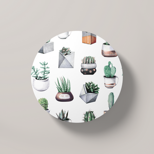 Cacti Party Pattern 10 | Round Coaster