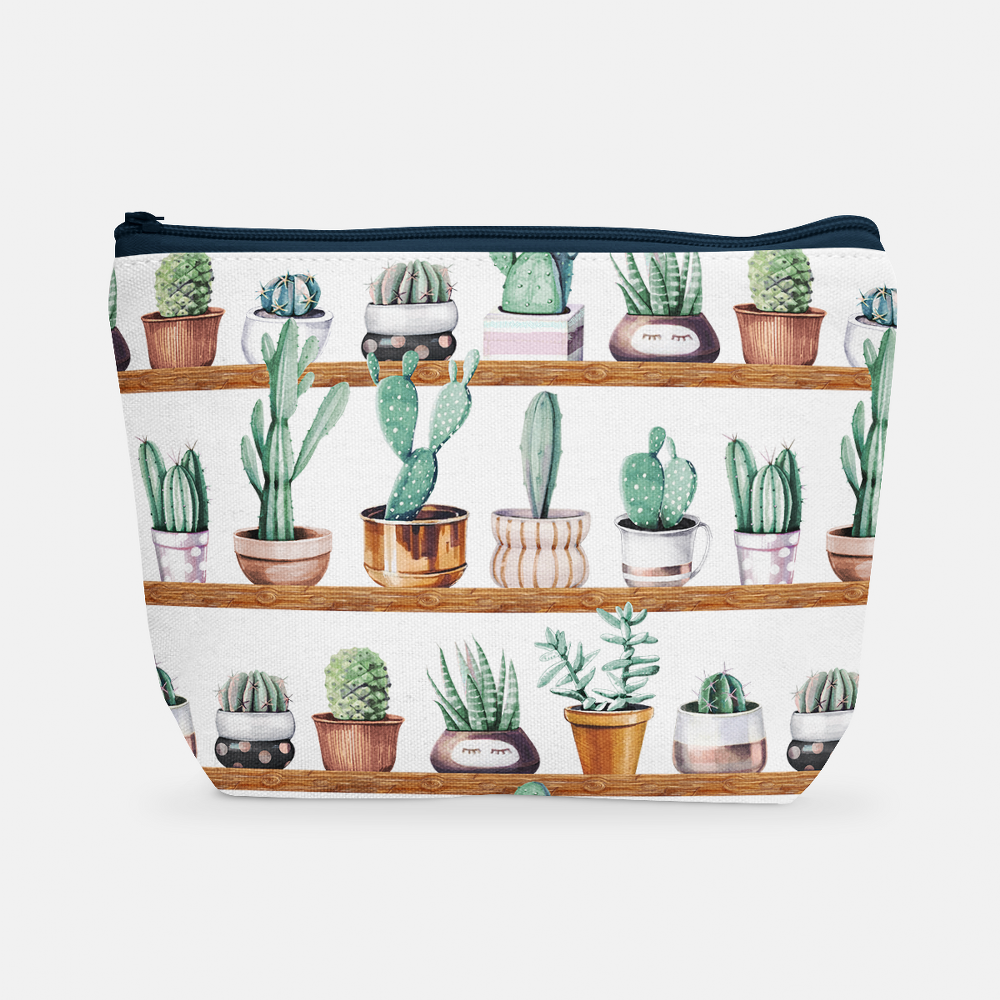 Cacti Party Pattern 13 | Cosmetic Bag - But Why Not