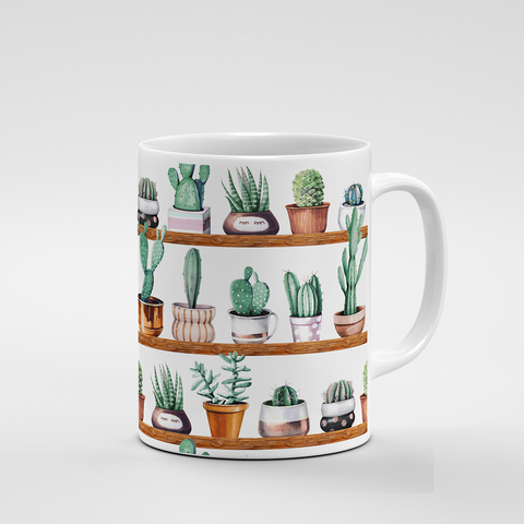 Cacti Party Pattern 13 | Mug - But Why Not