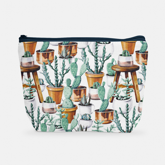 Cacti Party Pattern 14 | Cosmetic Bag