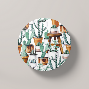 Cacti Party Pattern 14 | Round Coaster