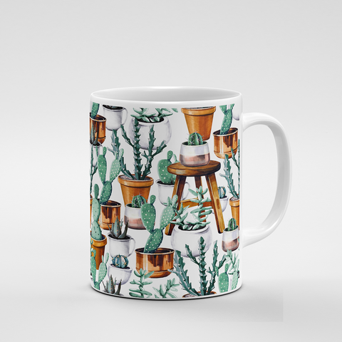 Cacti Party Pattern 14 | Mug - But Why Not