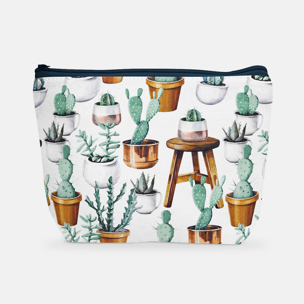 Cacti Party Pattern 15 | Cosmetic Bag - But Why Not