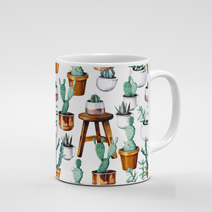 Cacti Party Pattern 15 | Mug - But Why Not