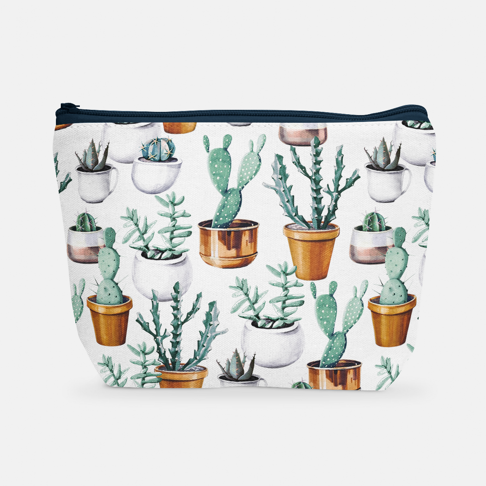 Cacti Party Pattern 16 | Cosmetic Bag - But Why Not