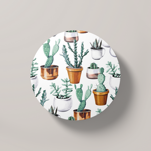 Cacti Party Pattern 16 | Round Coaster - But Why Not