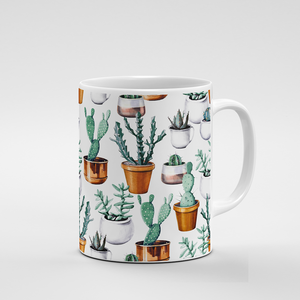 Cacti Party Pattern 16 | Mug - But Why Not