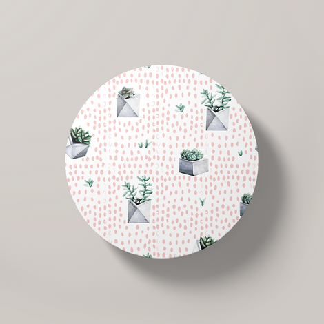 Cacti Party Pattern 1 | Round Coaster
