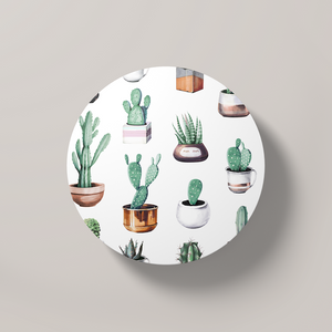 Cacti Party Pattern 4 | Round Coaster