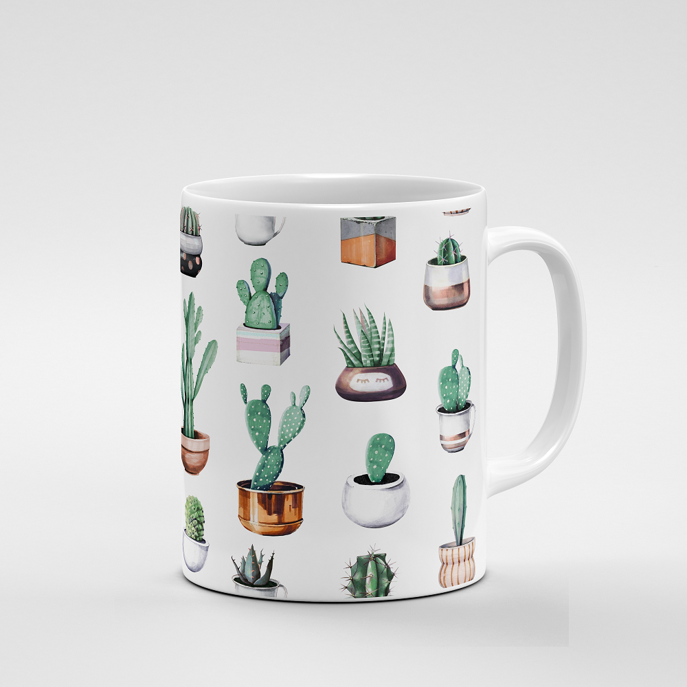 Cacti Party Pattern 4 | Mug - But Why Not