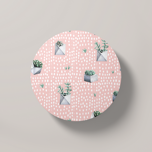 Cacti Party Pattern 5 | Round Coaster