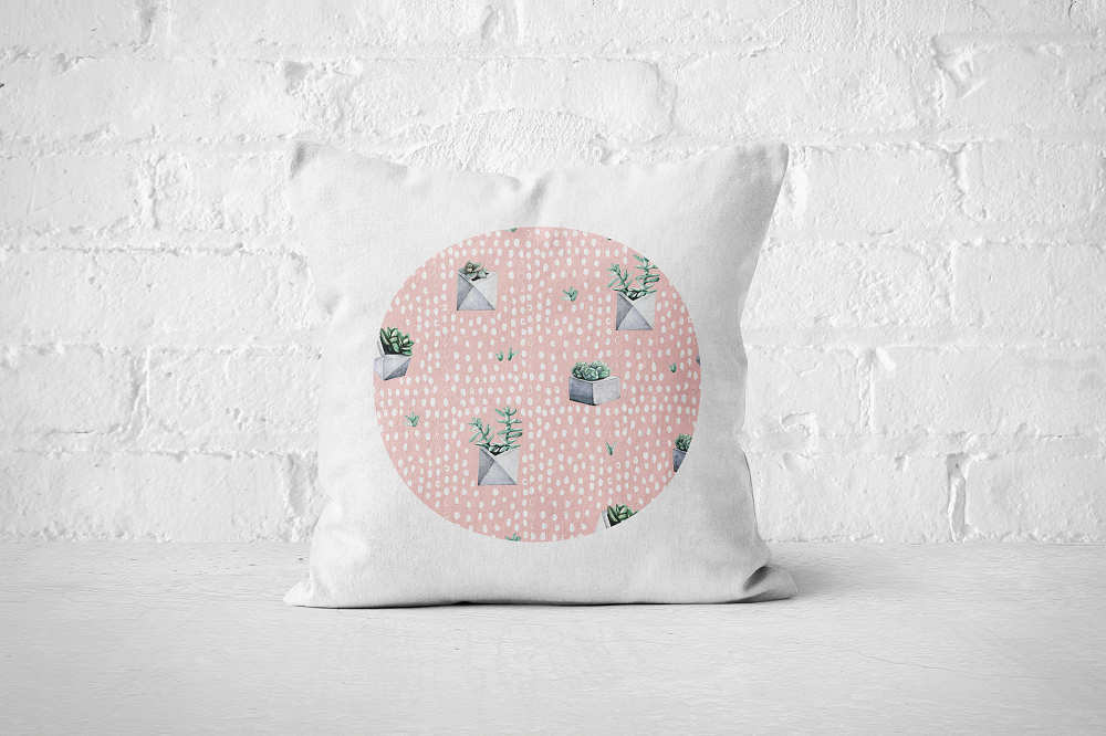 Cacti Party Pattern 5 | Pillow Cover - But Why Not