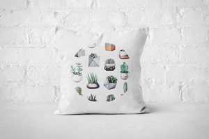 Cacti Party Pattern 10 | Pillow Cover - But Why Not