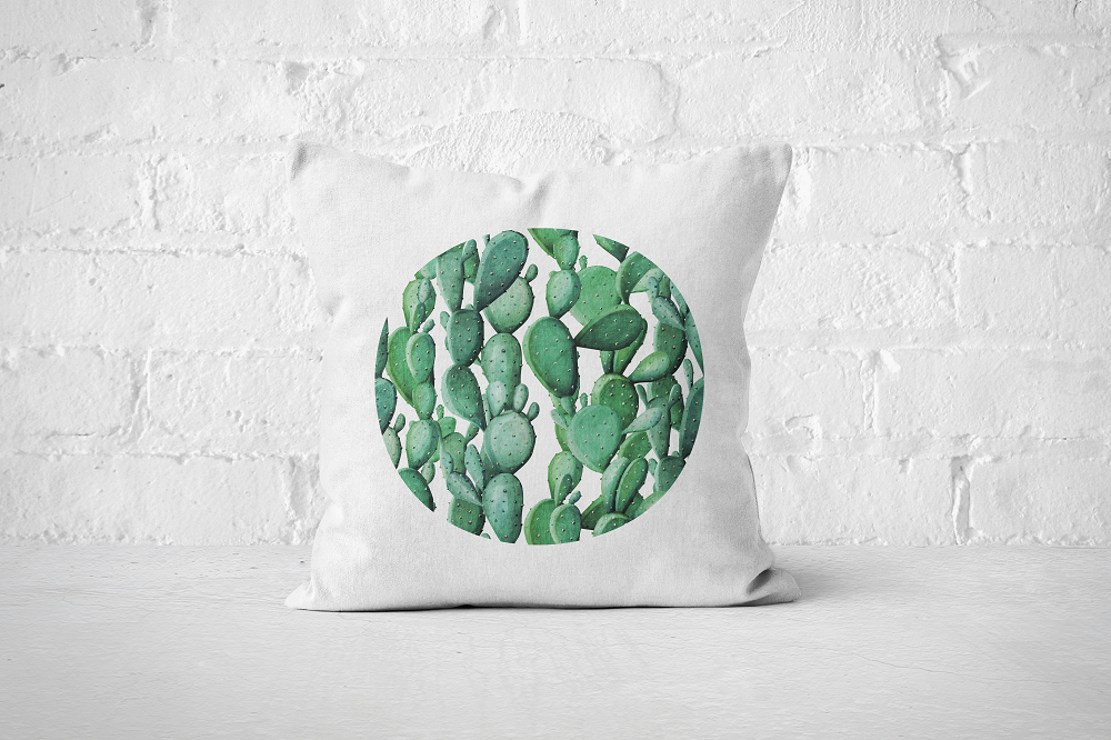 Cacti Party Pattern 12 | Pillow Cover - But Why Not