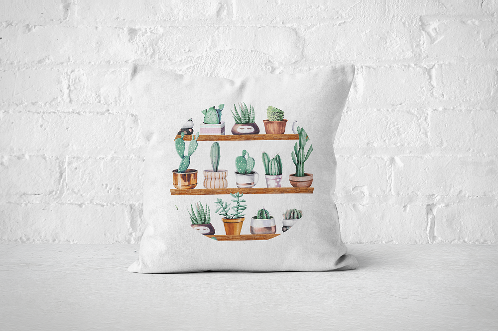 Cacti Party Pattern 13 | Pillow Cover - But Why Not