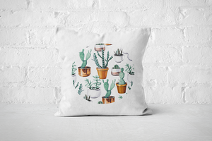 Cacti Party Pattern 16 | Pillow Cover - But Why Not