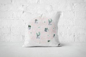 Cacti Party Pattern 1 | Pillow Cover - But Why Not