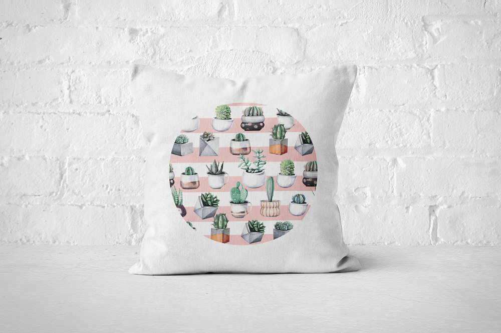 Cacti Party Pattern 3 | Pillow Cover