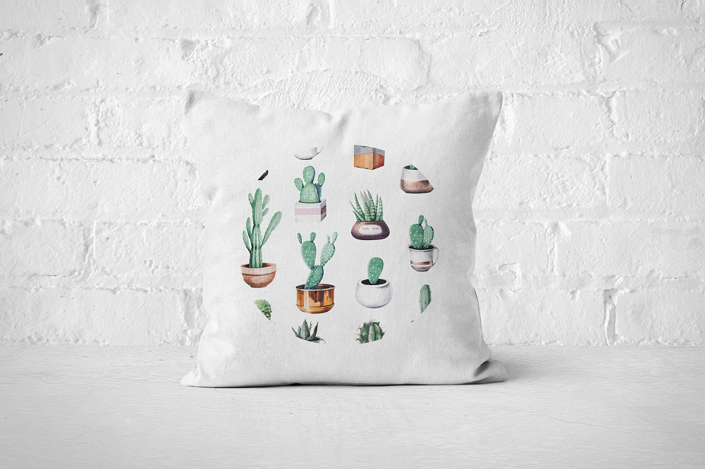 Cacti Party Pattern 4 | Pillow Cover - But Why Not