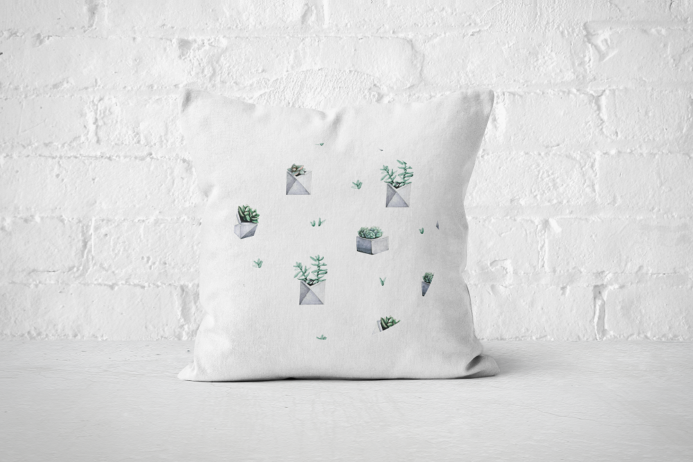 Cacti Party Pattern 7 | Pillow Cover - But Why Not