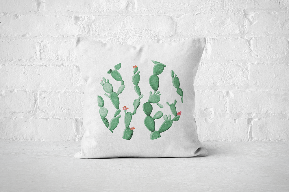 Cacti Party Pattern 8 | Pillow Cover