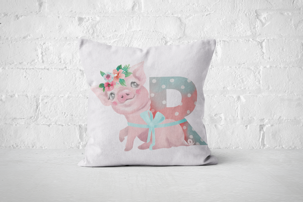 Pretty Letters Pillow Cover - R - But Why Not