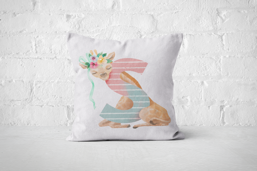 Pretty Letters Pillow Cover - S - But Why Not