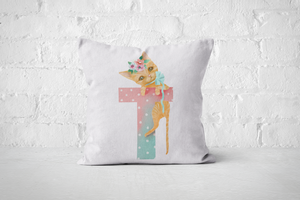 Pretty Letters Pillow Cover - T - But Why Not