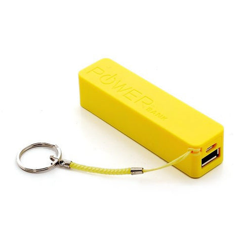 PowerBank - Batterie Externe Stick Power Bank 2600mAh 1xUSB 1.0A Jaune