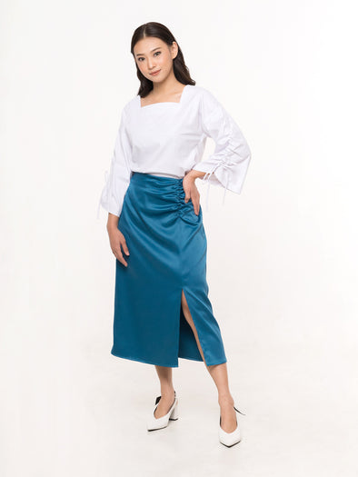 Alia Teal Skirt