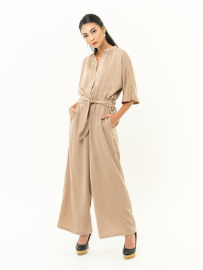 Barsha Jumpsuit - BROWN