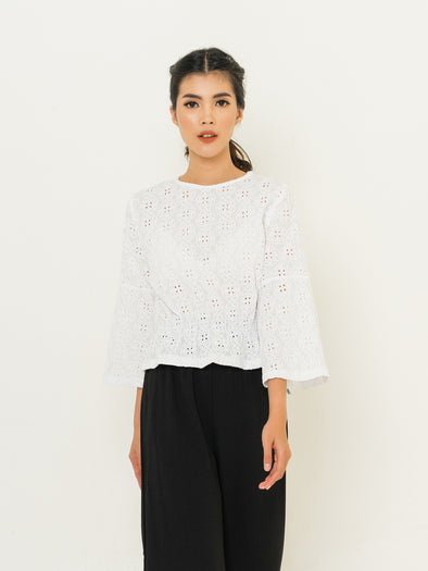 White Danette Top