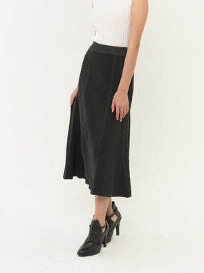 Elodie Knit Skirt - Dark Grey