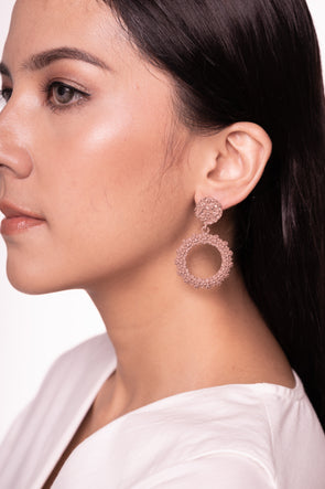 Esme Earrings Mud Pink