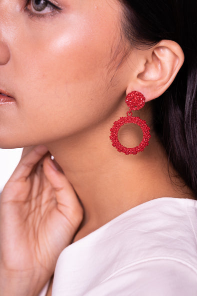 Esme Earrings Red