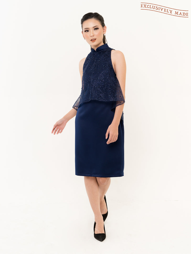 Everly Mandarin Collar Dress