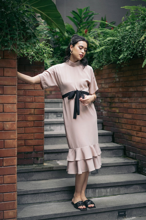 Leora Dress Nude